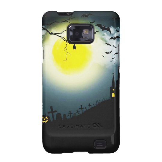Halloween landscape galaxy s2 case