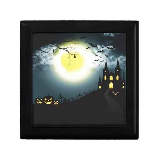 Halloween landscape gift box