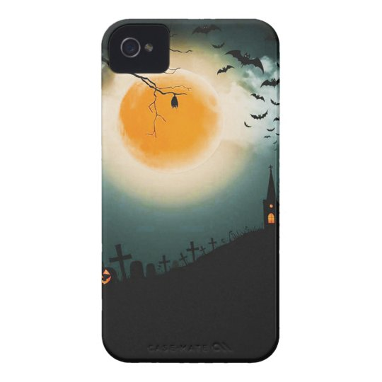 Halloween landscape iPhone 4 cases