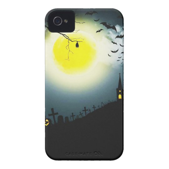 Halloween landscape iPhone 4 cover
