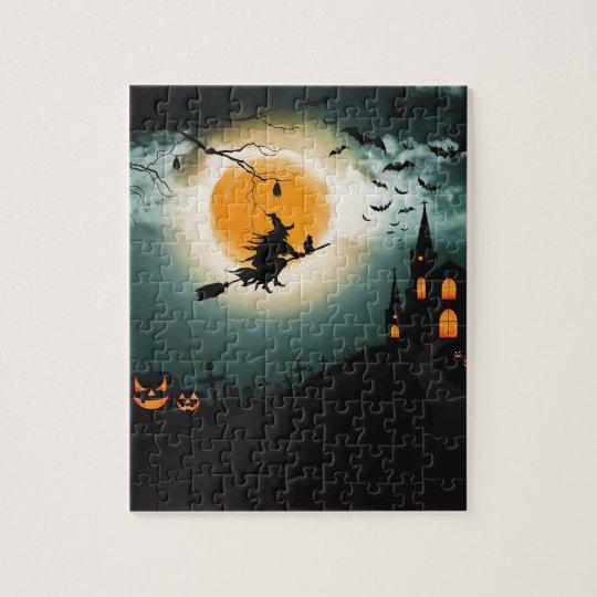 Halloween landscape jigsaw puzzle