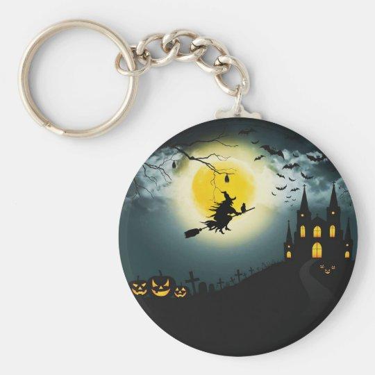 Halloween landscape key ring