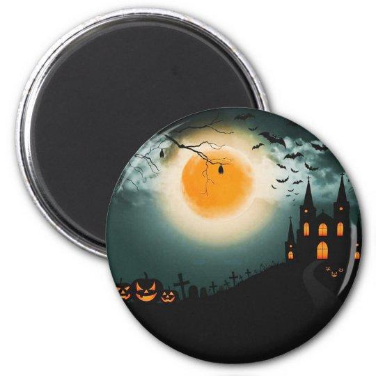 Halloween landscape magnet