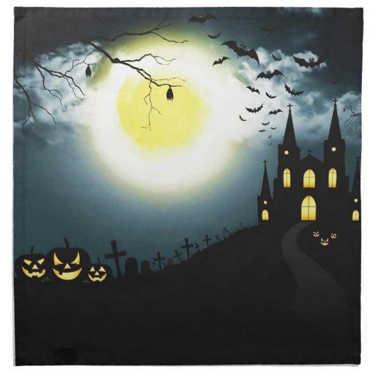 Halloween landscape napkin