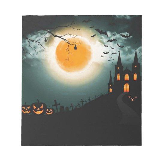 Halloween landscape notepad