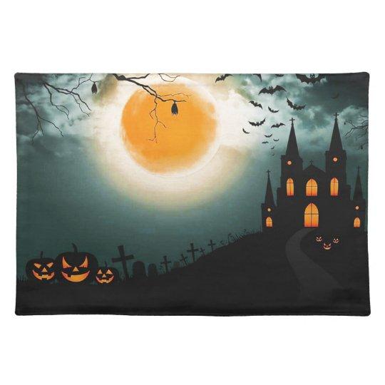 Halloween landscape placemat