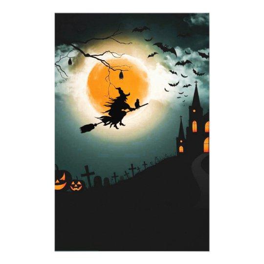 Halloween landscape stationery