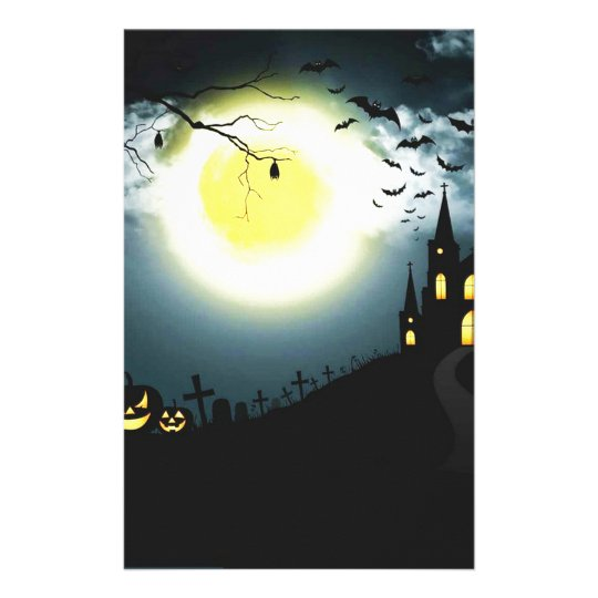 Halloween landscape stationery