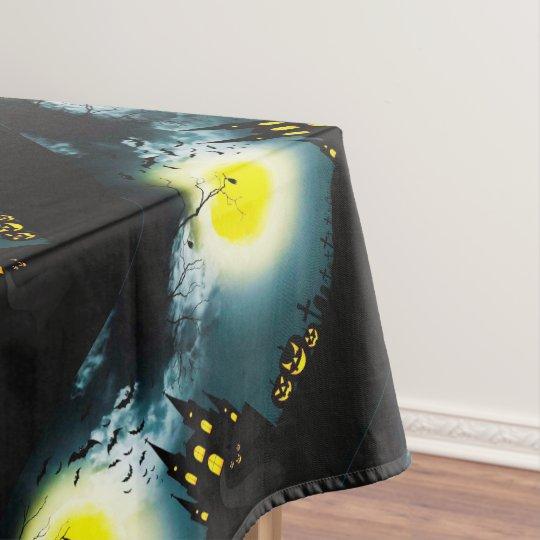 Halloween landscape tablecloth