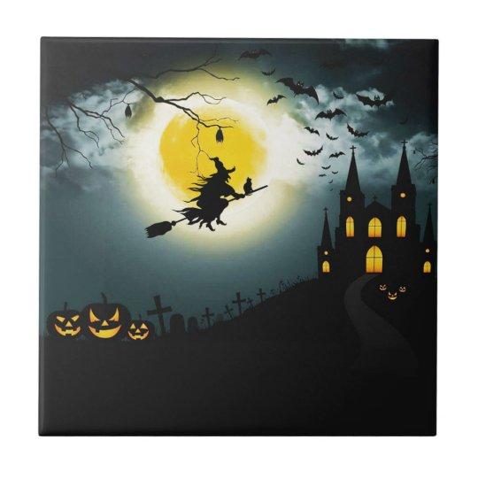 Halloween landscape tile