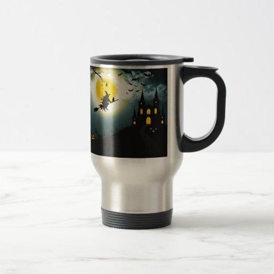 Halloween landscape travel mug
