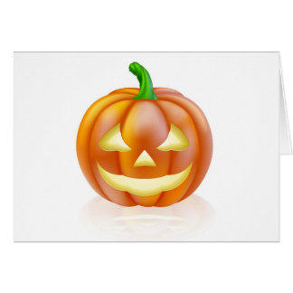 Halloween lantern pumpkin greeting cards