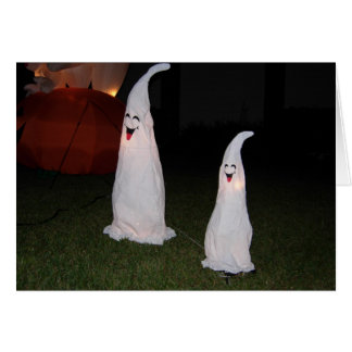 Halloween Laughing Ghosts Howl O Scream Card Photo