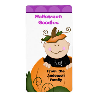 Halloween Little Pumpkin Baby Baking Label Shipping Label