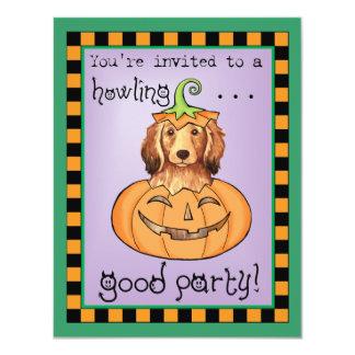 Halloween Longhaired Dachshund 11 Cm X 14 Cm Invitation Card