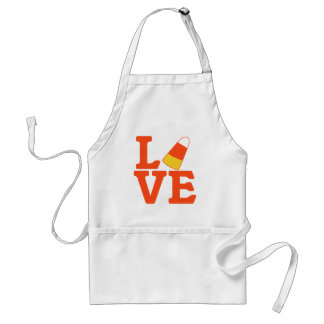 Halloween LOVE with Candy Corn Apron