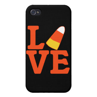 Halloween LOVE with Candy Corn iPhone 4 Cases