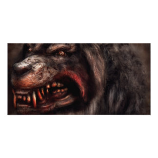 Halloween -  Mad Dog Picture Card