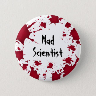 Halloween mad scientist 6 cm round badge