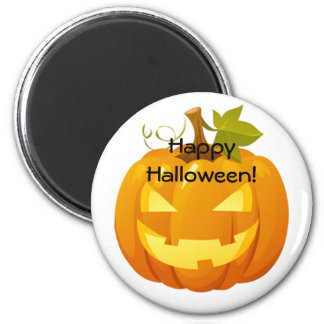 Halloween magnet with a jack-o-lantern