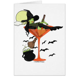 Halloween Martini Girl Greeting Card