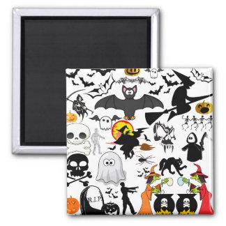 Halloween Mashup Fridge Magnet