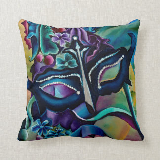 "Halloween Mask Throw Pillow 16"" x 16"""