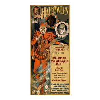 Halloween Masquerade Invitations Template Full Colour Rack Card
