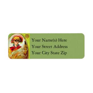 Halloween Masquerade Vintage Halloween Return Address Label