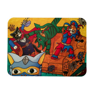 Halloween Medieval Knight Costume Cats Magnet