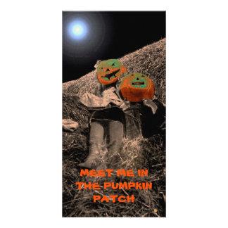 HALLOWEEN MEET ME IN THE PUMPKIN PATCH PHOTO ART CARD