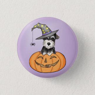 Halloween Miniature Schnauzer 3 Cm Round Badge