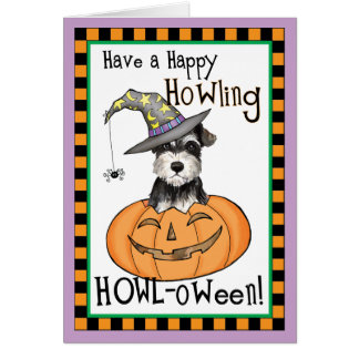 Halloween Miniature Schnauzer Card