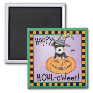 Halloween Miniature Schnauzer Magnet