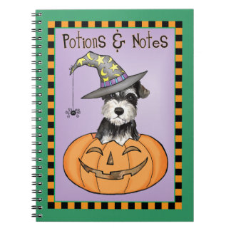 Halloween Miniature Schnauzer Notebook