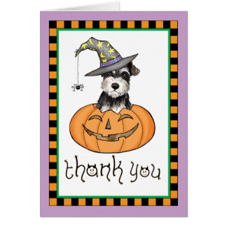 Halloween Miniature Schnauzer Thank You Card