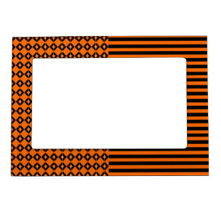 Halloween mix pattern magnetic picture frame