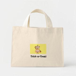 Halloween Monkey Pumpkin Tote Mini Tote Bag