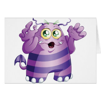 Halloween Monster 2 Greeting Card