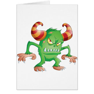 Halloween Monster 3 Greeting Card