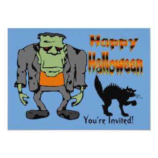 "Halloween Monster - Black Cat Invitation 5"" X 7"" Invitation Card"