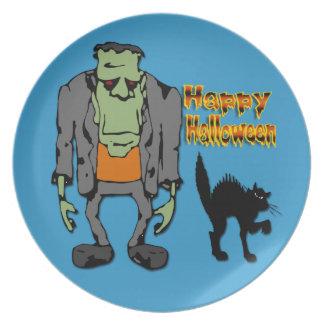 Halloween Monster - Black Cat Plate