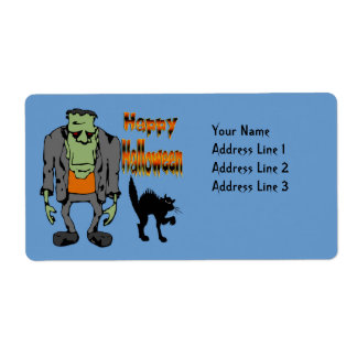 Halloween Monster - Black Cat Shipping  Label Shipping Label