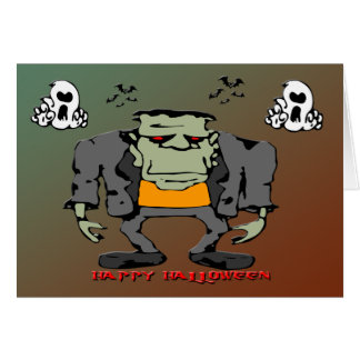 Halloween Monster Greeting Card