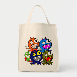 Halloween Monster Friends Tote Bags