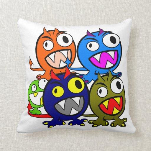 Halloween Monster Friends Pillow