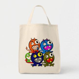 Halloween Monster Friends Grocery Tote Bag