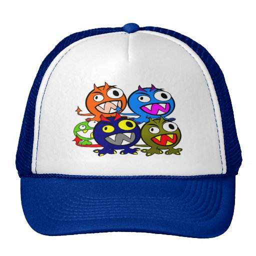 Halloween Monster Friends Trucker Hats