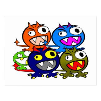 Halloween Monster Friends Postcard