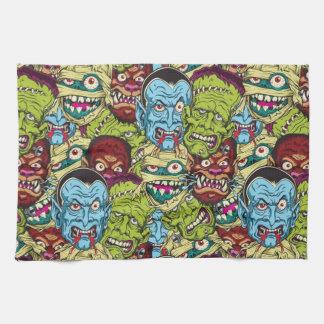 Halloween Monster Mash Tea Towel